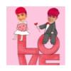 两个红头发的小孩